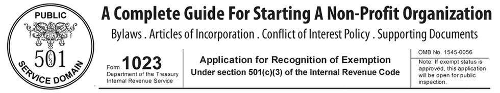 IRS Form 1023 help for 501c3 nonprofit organizations